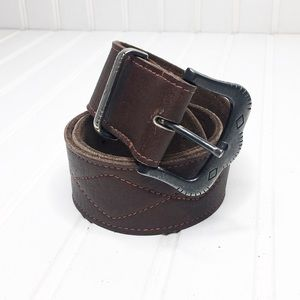 🌵 Soft Southwestern Pleated Leather Belt